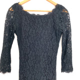 Diane Von Furstenberg Black Lace Dress- Size 2