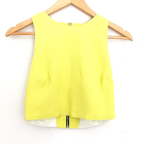 Topshop Neon Cutout Crop Top NWT- Size 2
