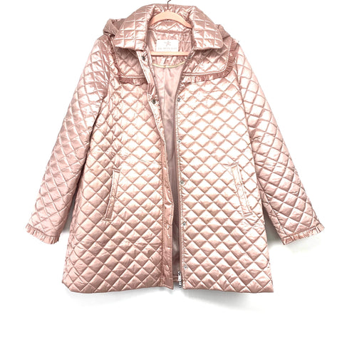 Gal Meets Glam Blush Pink Marissa Quilted Hooded Jacket- Size L (no longer available online)