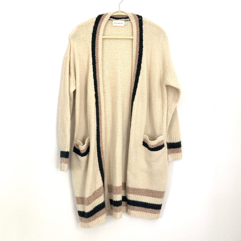 Dreamers Striped Duster Cardigan- Size S/M