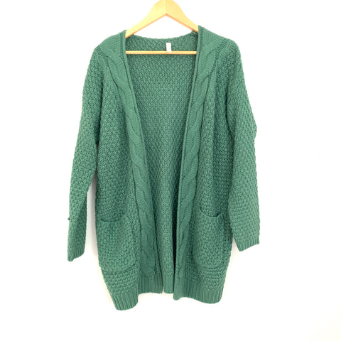 Wishlist Green Pocket Knit Cardigan- Size S/M