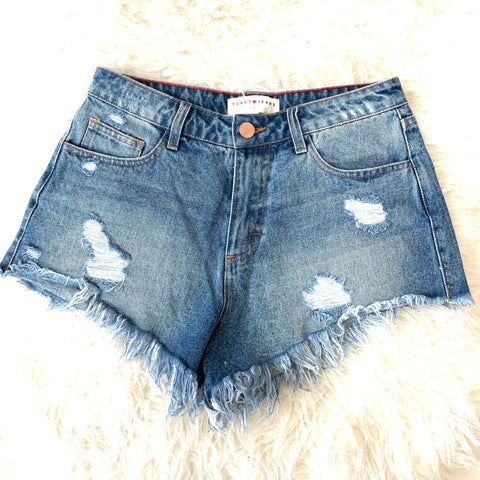 Toast Jeans Distressed Denim Cut Off Shorts- Size S