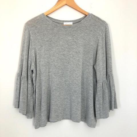 Leith Grey Bell Sleeve Top- Size S