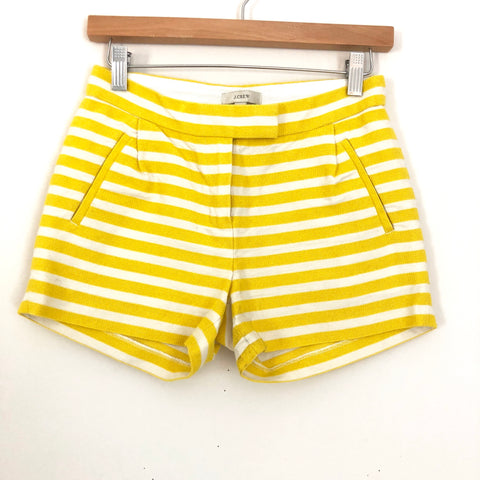 J Crew Yellow Striped Short- Size 00
