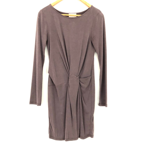 Everly Faux Knot Front Dress in Grey NWT- Size S