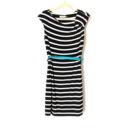 Calvin Klein Striped Belted Dress- Size 12