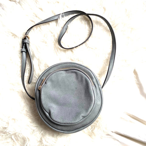 Sole Society Grey Suede and Leather Crossbody NWOT (Brand New)