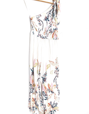 Free People One Shoulder Floral Jumpsuit- Size XS