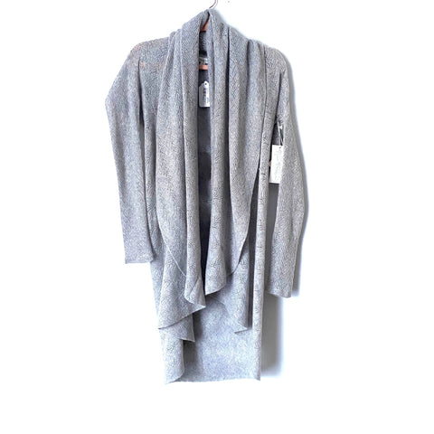Garnet Hill Grey Lace Stitch Cashmere Cardigan NWT- Size XS (Jana) sold out online