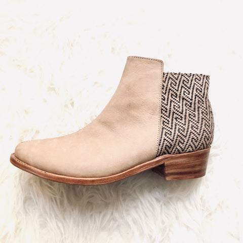 The Root Collective Espe Booties in Vanilla (never worn)- Size 8