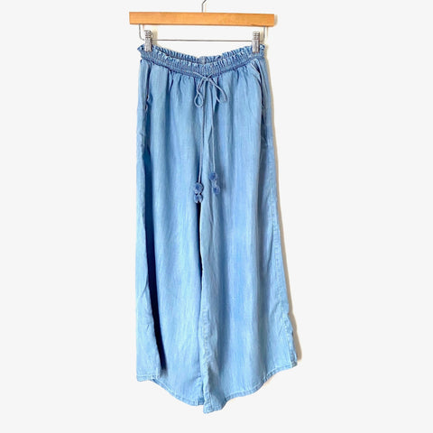 "Matilda Jane Chambray Drawstring Wide Leg Pants NWT- Size S (Inseam 26"")"