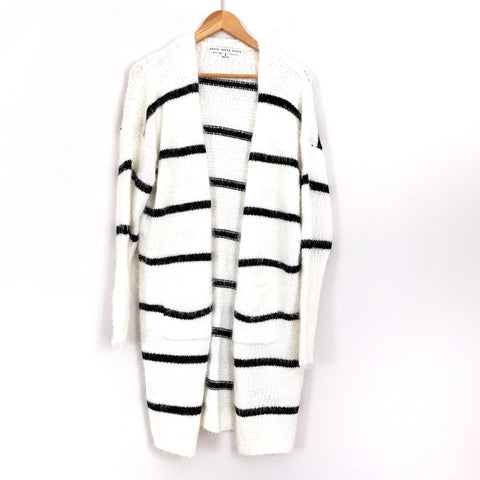 Hyfve Fuzzy Striped Pocket Cardigan NWT- Size S
