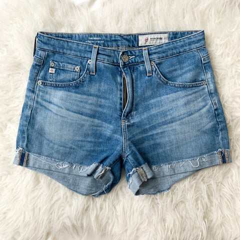 AG Adriano Goldschmied The Hailey Roll Up Denim Shorts- Size 26