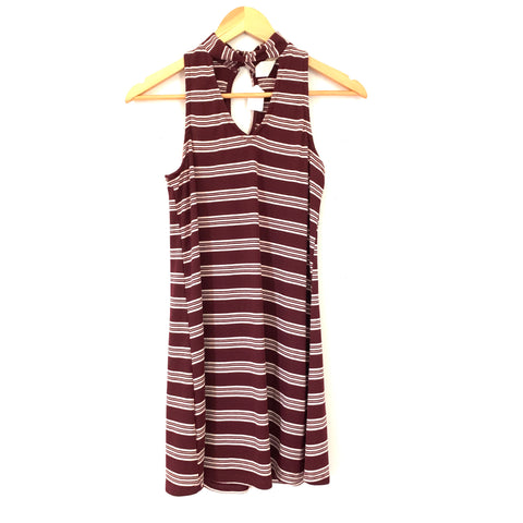 Cozy Casual Choker Striped Dress- Size S