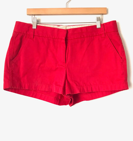 J. Crew Red Chino Shorts- Size 12