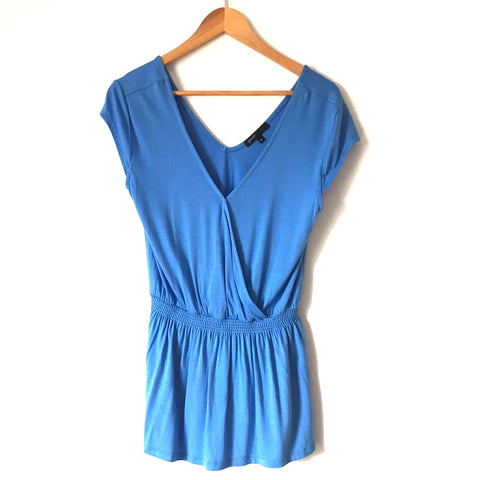 Gibson Blue Cinched Waist Top- Size XS