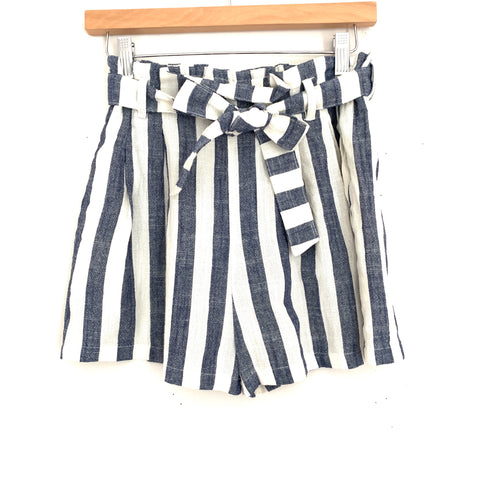 Fashion on Earth Striped Belted Paperbag Waist- Size S