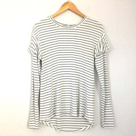 BP Striped Ruffle Sleeve Top- Size S