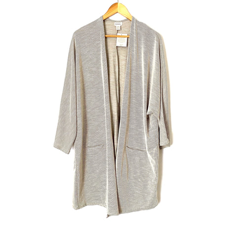 Donni Grey Ribbed Open Cardigan NWT- Size OS Plus