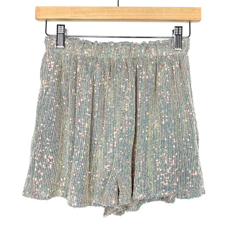 Endless Rose Grey Sequin Shorts NWT- Size XS
