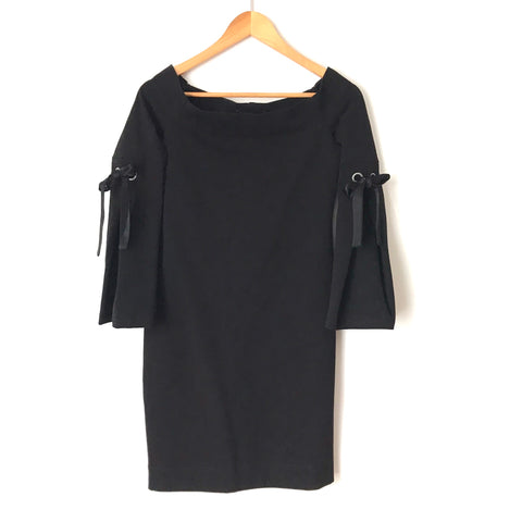 Fifteen Twenty Black Off the Shoulder Bell Sleeve Dress- Size XS