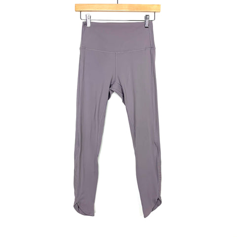 "Savvi Lilac Mesh Panel High Waist Legging- Size S (Inseam 24"")"