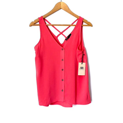 Gibson x Motherchic Coral Button Up Strappy Back Tank NWT- Size XS