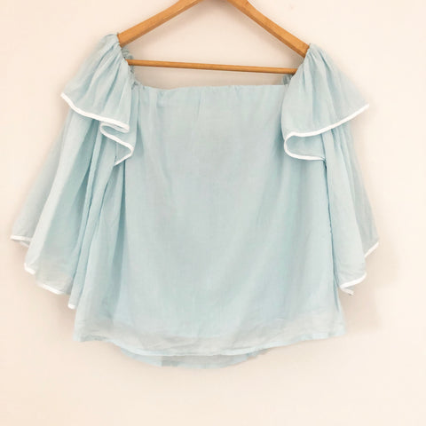 1. State Off the Shoulder Bell Sleeve Top- Size S
