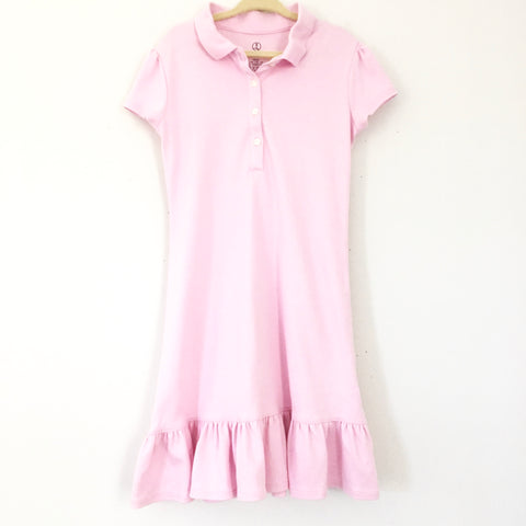 Girl's Youth Lands' End Kids Pink Polo Dress- Size 6 (5-6 years)
