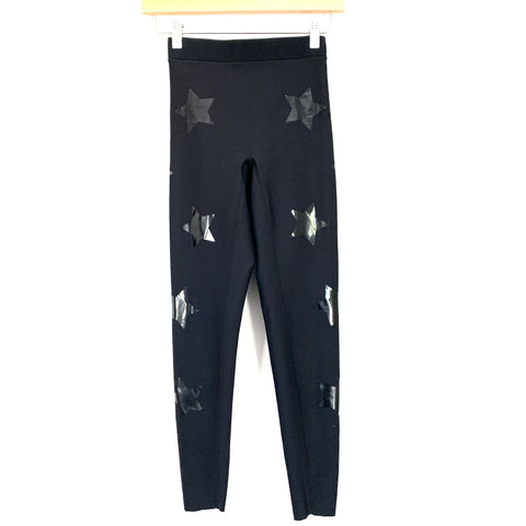 "Ultracor Black Star Print Leggings- Size~XS (Inseam 26"")"