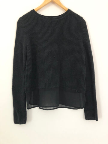 Banana Republic Ribbed Knit Sweater with Sheer Hem- Size XS