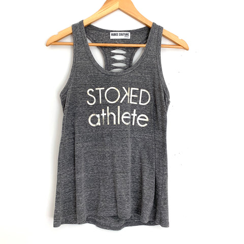 "Kira Stokes ""The Stoked Athlete"" Tank with Laser Cut Racerback- Size S"