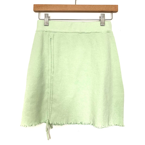 My Girl Mint Sweater Like Cinched Skirt NWT- Size 10