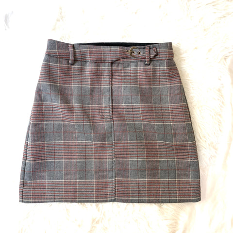 J.ING Plaid Grey, Black and Red Skirt- Size S