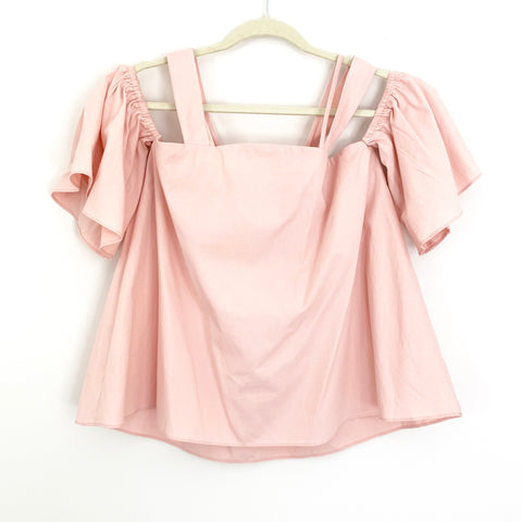 JOA Just One Answer Pink Off the Shoulder Blouse with Straps NWT- Size S