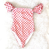 Tularosa Pink & Red Polkadot Felicity One Piece- Size S