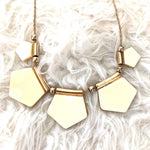 No Brand Pentagon Statement Necklace