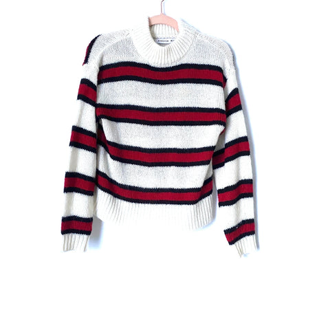 Rebecca Minkoff Striped Wool Blend Mock Neck Sweater- Size ~S (Jana)