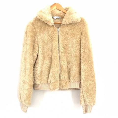 HYFVE Tan Jacket Faux Fur Jacket- Size S