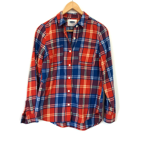 Old Navy Plaid Button Up Shirt- Size XS