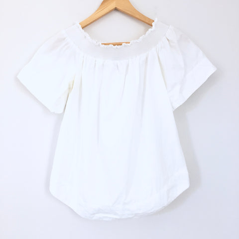 J Crew White Off the Shoulder Top- Size 4