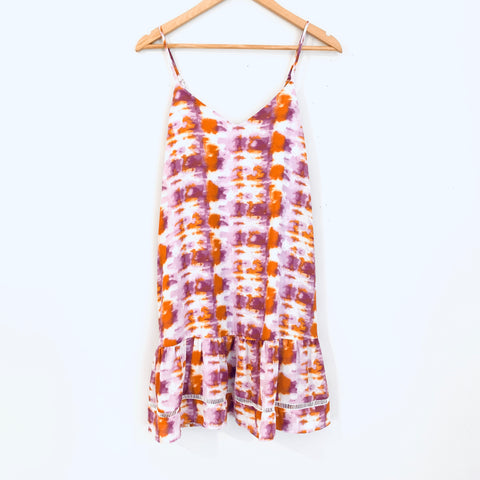 Pink Lily Orange & Purple Tie Dye Tank Dress NWT- Size S