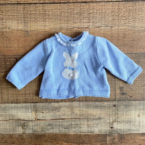 Mayoral Blue Bunny Sweater- Size 1-2M