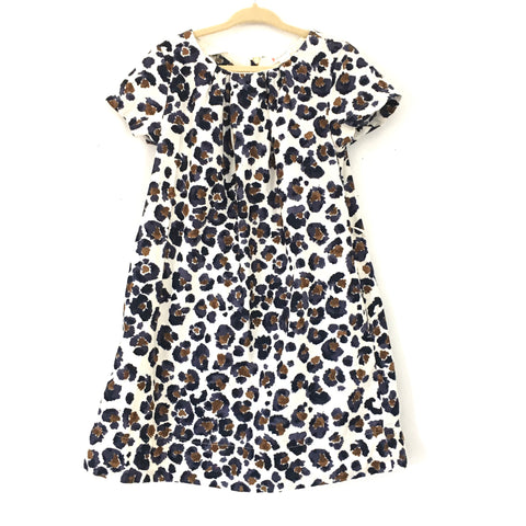 Girl's Youth J Crew Crewcuts Thin Corduroy Leopard Print Dress- Size 6
