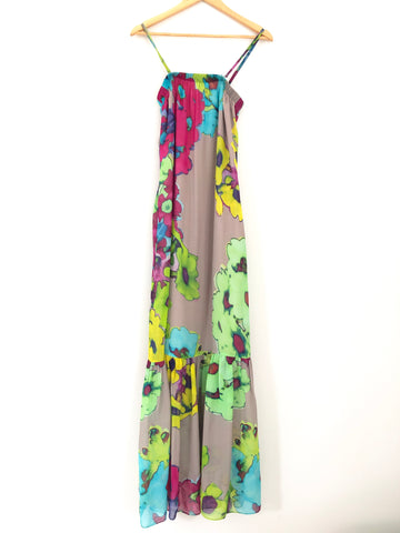 Trina Turk Floral Dress with Detachable Straps- Size S