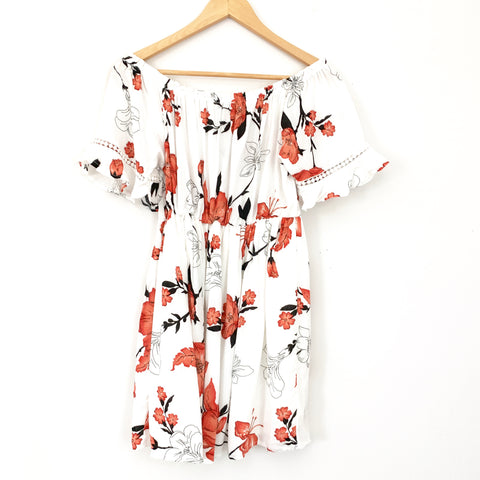 Favlux Off the Shoulder Floral Dress- Size S