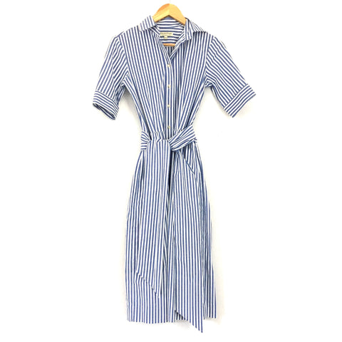 Kim and Proper Striped Button Up Dress with Belt- Size XXS