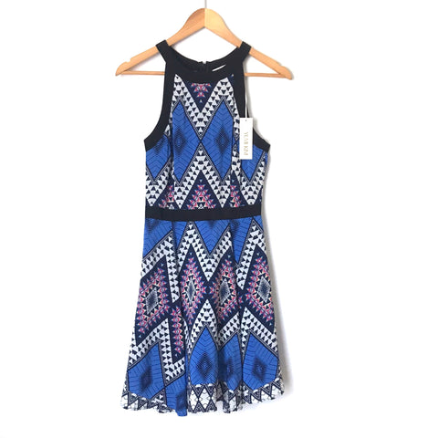 Yumi Kim Patterned Silk Racerback Dress NWT- Size XS