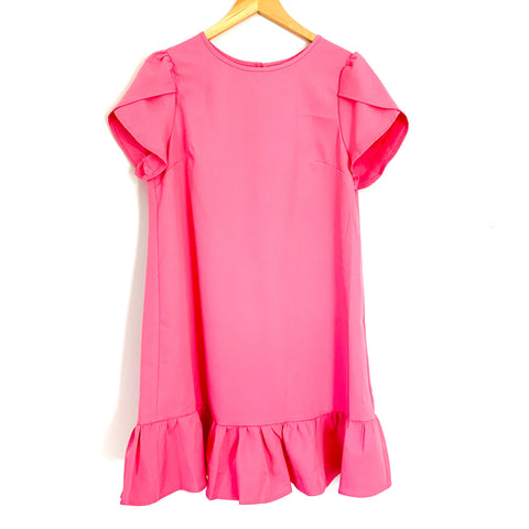 No Brand Pink Ruffle Hem Dress- Size M