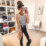 P.S. Kate Striped Long Sleeve Soft Top- Size S